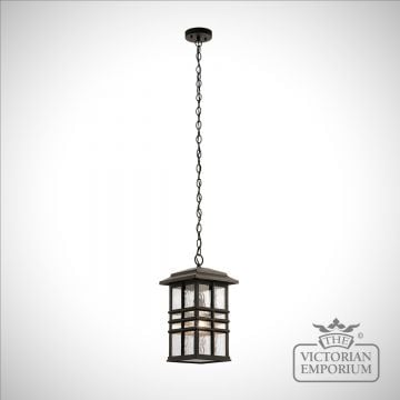 Beacon exterior ceiling chain lantern in bronze