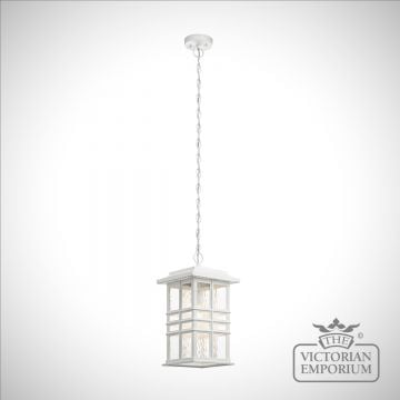Beacon exterior ceiling chain lantern in white