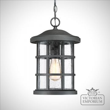 Crusader exterior ceiling chain lantern in Black