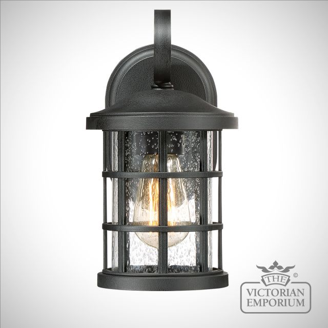 Crusader exterior wall lantern in Black in a choice of sizes
