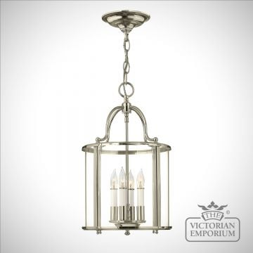 Gentry medium pendant in polished nickel