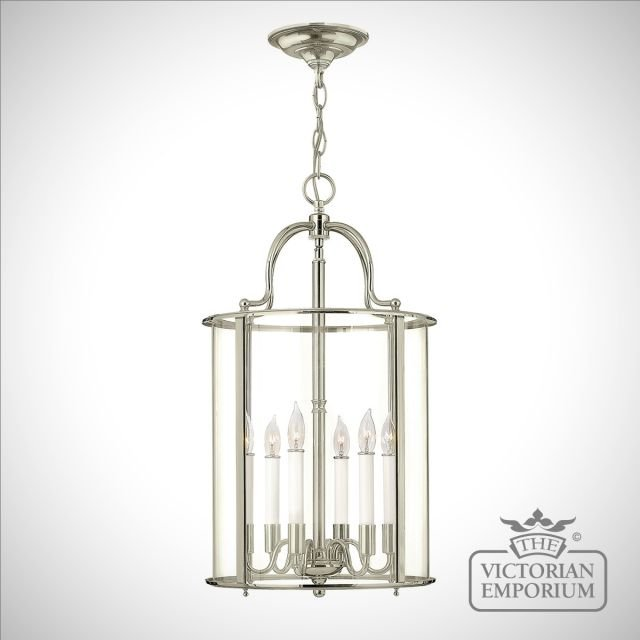 Gentry large pendant in polished nickel