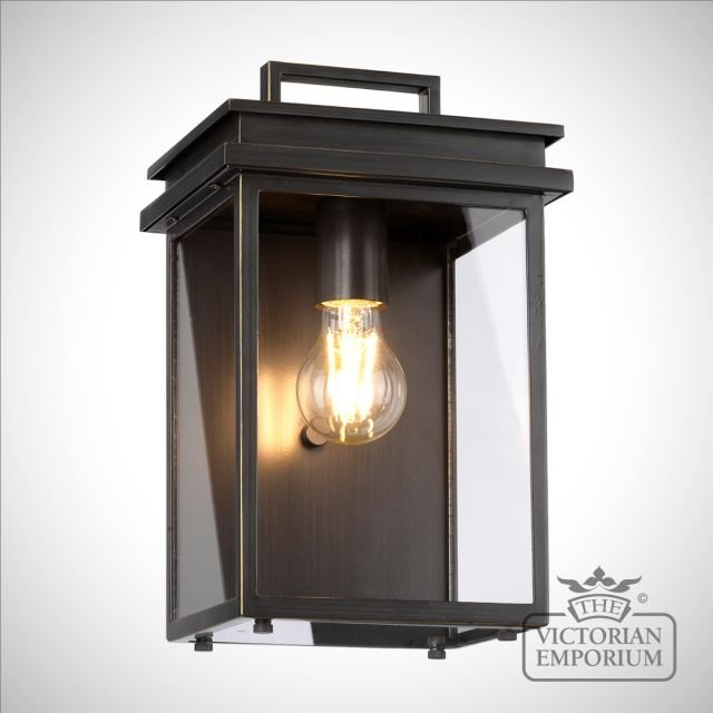 Glenview exterior wall light in bronze in a choice of sizes