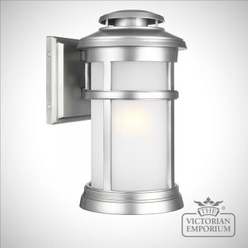 Newport medium exterior wall light in painted brushed steel