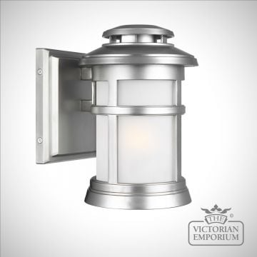 Newport small exterior wall light in Painted Brushed Steel