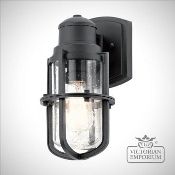 Suri exterior wall light in black in a choice of sizes
