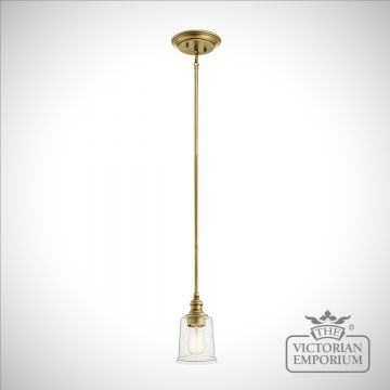 Waverley pendant - natural brass