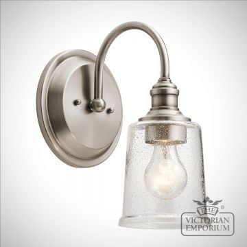 Waverley wall light - pewter