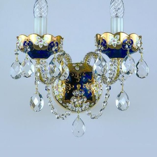 Crystal wall sconce