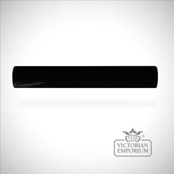 Plain Victorian trim tiles 200x25mm in Black
