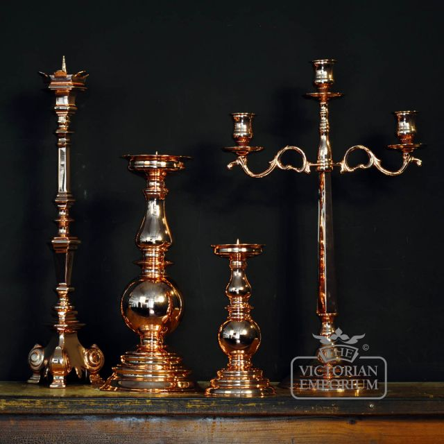 ​Copper 3 arm Candlestick