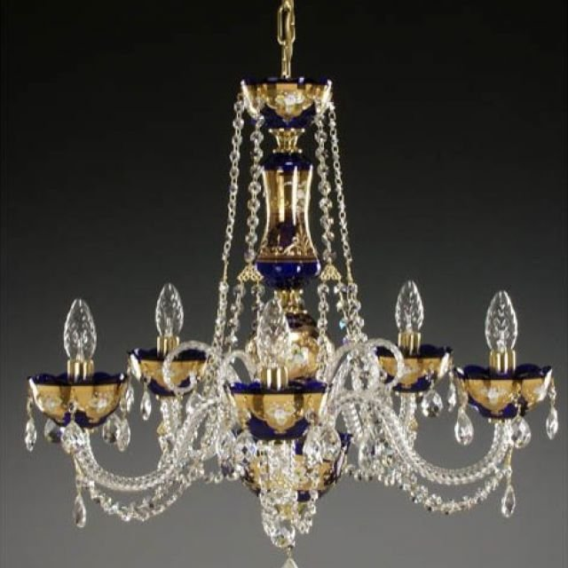 Coloured chandelier 50