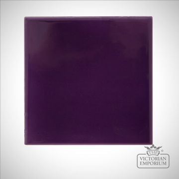 Deep Violet Square Fireplace tiles