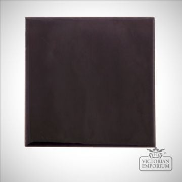 Dark purple square fireplace tiles