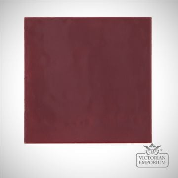 Dark pink square fireplace tiles