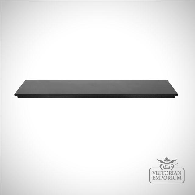 Polished Black Granite Hearth - 4 piece