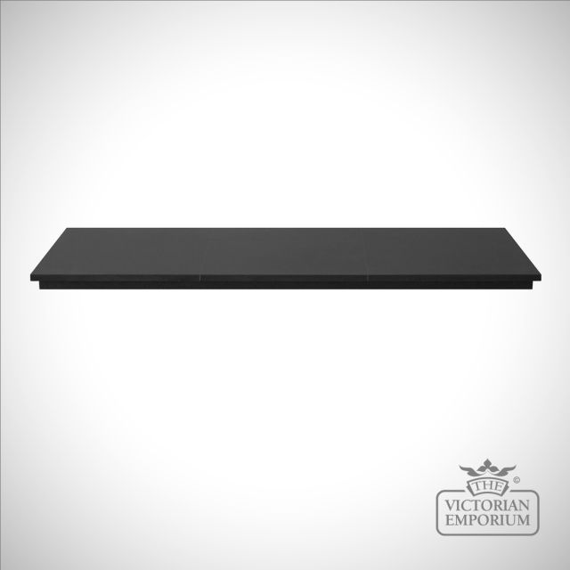 Honed Black Granite Hearth - 4 piece
