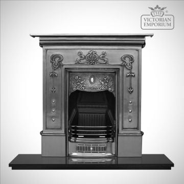 Belle Victorian style cast iron fireplace