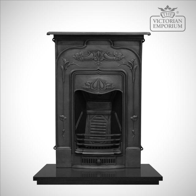 Jasmine Victorian style cast iron fireplace