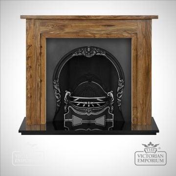 Tiffany cast iron fireplace insert
