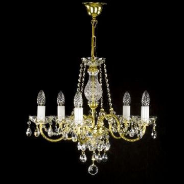 Traditional bohemian crystal small chandelier