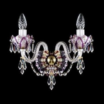 Double coloured wall chandelier - nickel