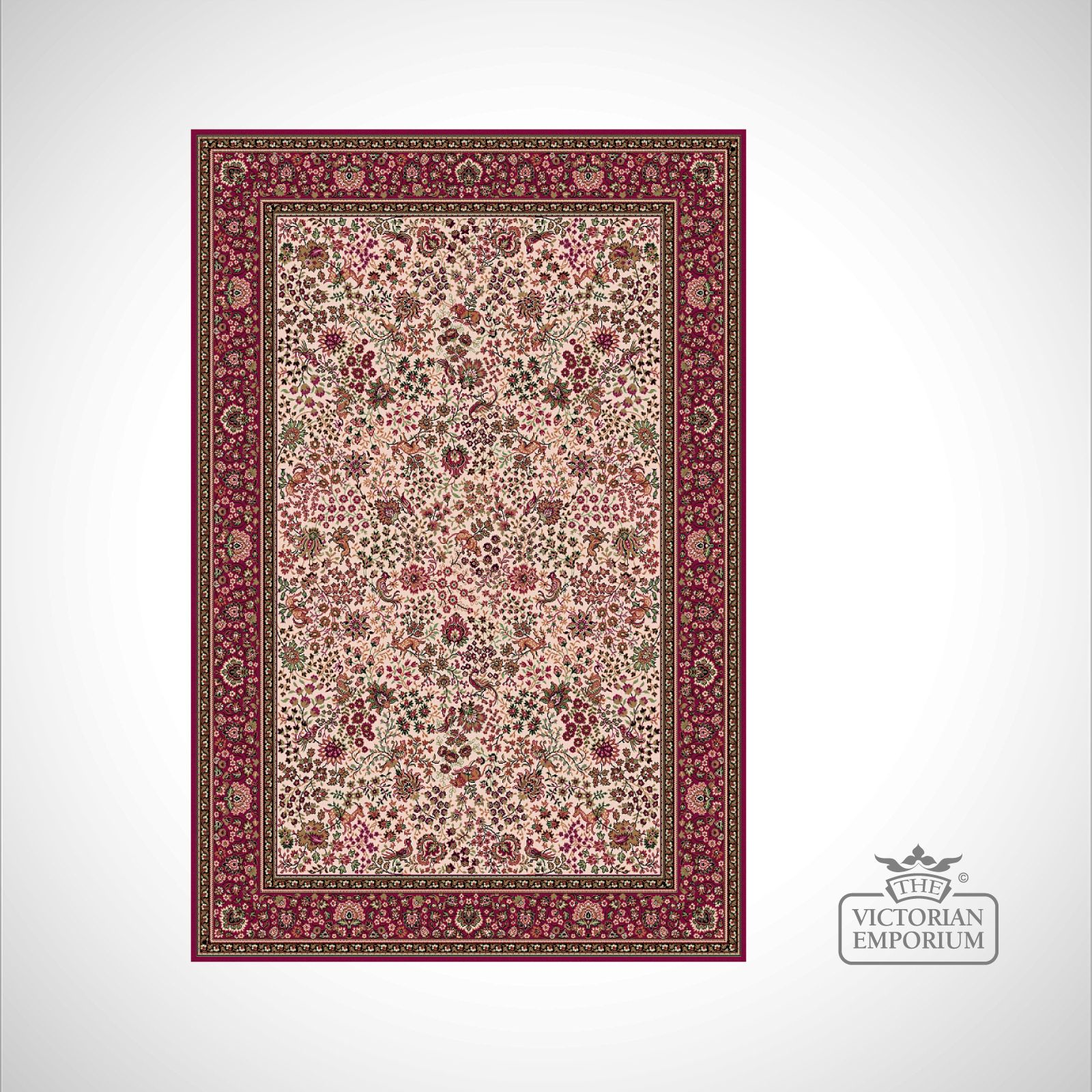 Victorian Rug Style Im1959 Red 2 Rugs