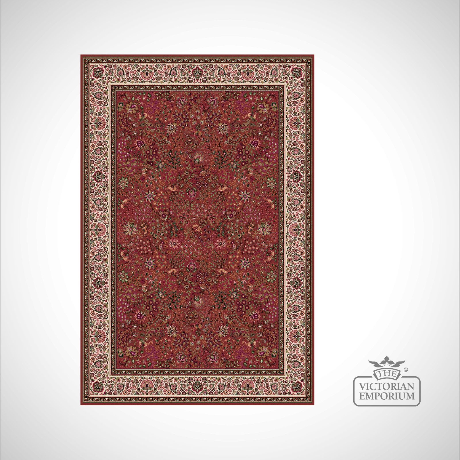 Victorian Rug Style Im1959 Red 1 Rugs