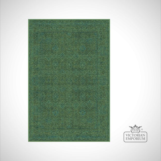 Victorian Rug - style IM1951 Green Patterned