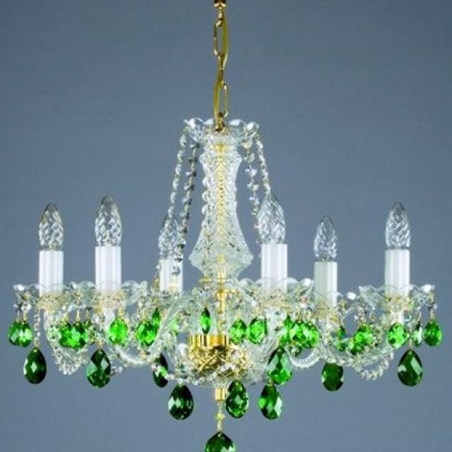 Coloured chandelier - gold