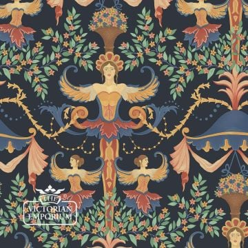 Chamber Angels Wallpaper in Denim or Sky colourway