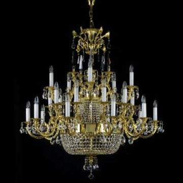 Traditional large antique frame chandelier
