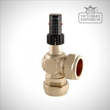 Auto Bypass Radiator Valve in Polished Nickel