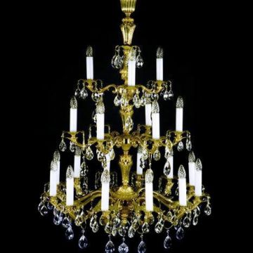 Large 3 tier cast antique chandelier