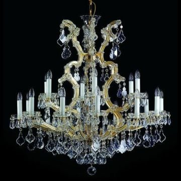 Grand bohemian crystal chandelier