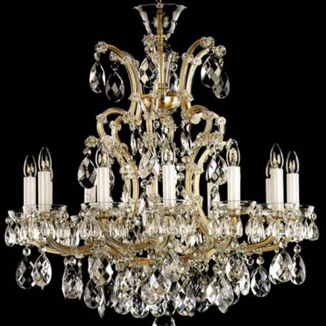 Stunning bohemian crystal chandelier