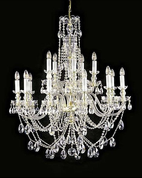 Beautiful large crystal chandelier