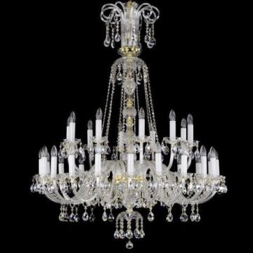 Larger glass chandelier