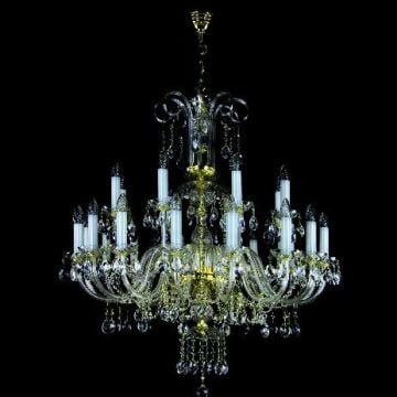 Traditional sparkling chandelier