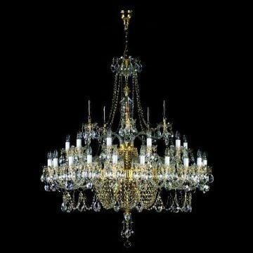 Grand statement chandelier