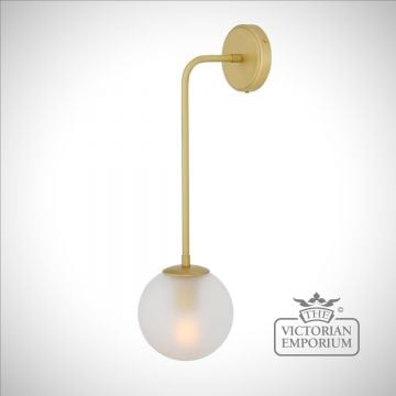 West Port Glass Globe Wall Light