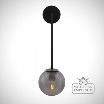 New Port Glass Globe Wall Light