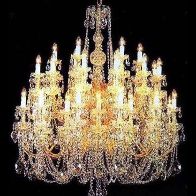Magnificent large crystal chandelier