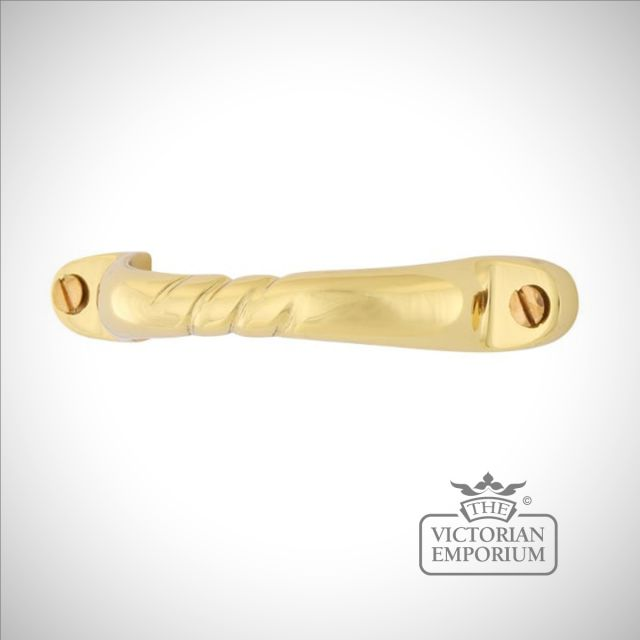 Skye brass pull handle in a choice of finishes