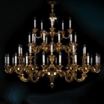 Grand 3 tier cast chandelier