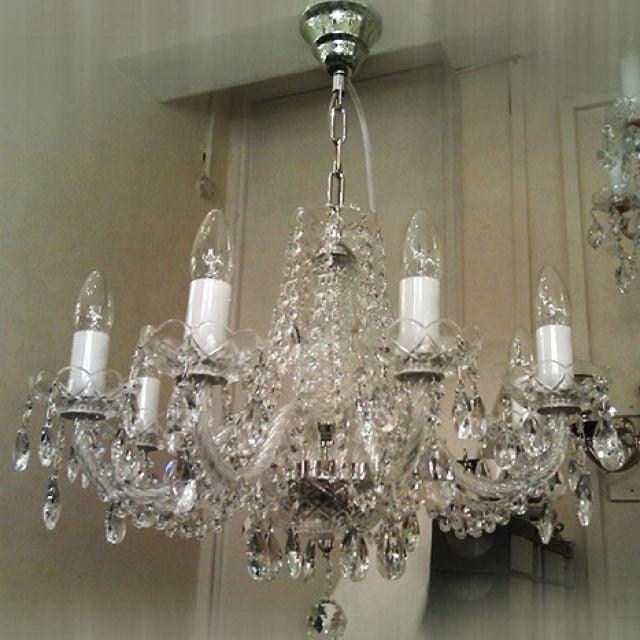 Bohemian crystal chandelier