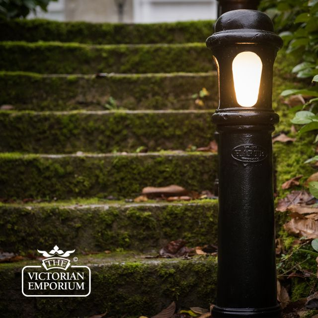 Cast iron bollard lights in a choice of sizes