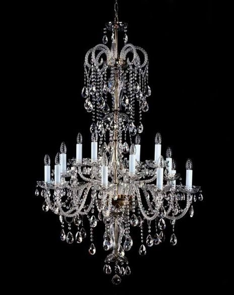 Cascading Lead Crystal Chandelier Large Ceiling Chandeliers