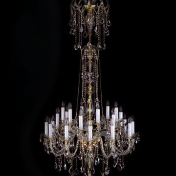 Double tier cascading chandelier