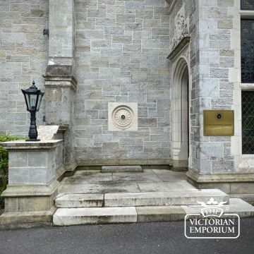 Traditional cast iron lantern on cast iron pedestal in a choice of sizes